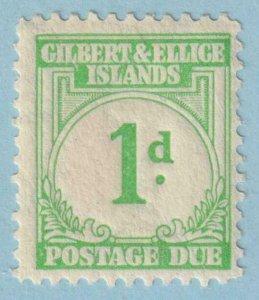 GILBERT & ELLICE ISLANDS J1 POSTAGE DUE  MINT HINGED OG * NO FAULTS EXTRA FINE!