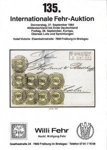 Fehr: Sale # 135  -  135. Internationale Fehr-Auktion, Wi...