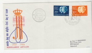 NETHERLANDS ANTILLES,1962 Silver Wedding pair, First Day cover