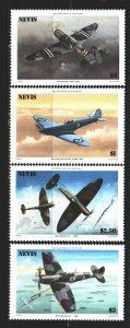 Nevis. 1986. 360-63. Military aircraft. MNH.