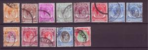 J21351 Jlstamps 1949-52 various singapore used #2a-up king perf 18 $40.00++scv