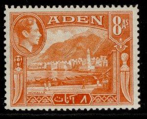 ADEN GVI SG23, 8a red-orange, M MINT.