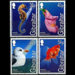 GIBRALTAR 2001 - Scott# 871-4 Europa-Fauna Set of 4 NH