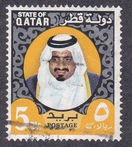 Qatar # 360B, Sheik Khalifa, Used, 1/3 Cat.