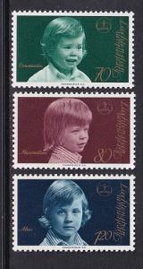 Liechtenstein  #553-555  MNH  1974 Princes
