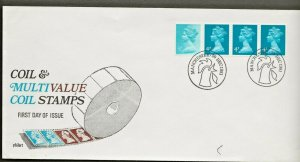 30/12/1981 READERS DIGEST-MULTI VALUE 12½p COIL / RARE POSTMARK FDC