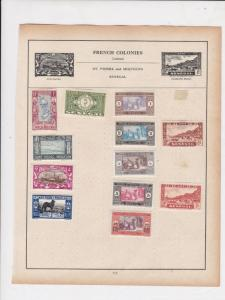 French Colonies Stamps on Album Page ref R18936