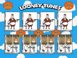 HAITI SHEET CINDERELLA IMPERF LOONEY TUNES ROCKY MUGSY  #27#
