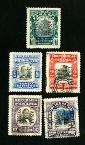 Canal Zone Stamps VF 5 early used
