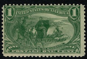 US #285 VF/XF mint never hinged, super fresh color, well centered for this is...