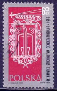 Poland. 1969. 1906. Democratic Party Congress. USED.