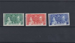 ASCENSION  1937  CORONATION SET  MH
