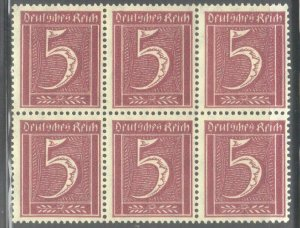 GERMANY  SC# 137 **MNH**  1921 5pf  NUMERALS   SEE SCAN