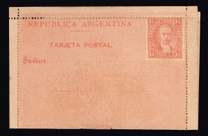 Argentina Stamp 1 1/2C STAMPED FOLDED CARD UNUSED