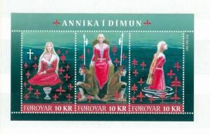 Faroe Islands. 1 Souv.Sheet.2011 Mnh. The Legend Of Annika in Dímun.3 x 10 Kr