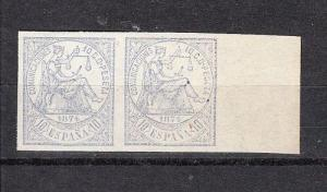 Spain Scott 203a Mint pair (no gum as issued) - Catalog Value $27.00