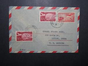 Yugoslavia 1955 Uprated Air Cover to USA - Z12074