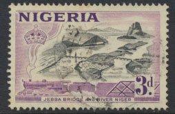 Nigeria SG 73 SC# 84 Die I Used  QEII 1953 Jebba Bridge River Niger  see scan