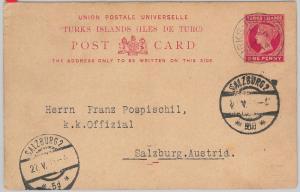 52024 -  TURKS ISLANDS  -  POSTAL HISTORY - STATIONERY CARD to AUSTRIA 1914