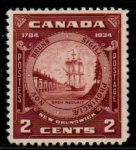 Canada Sc 210 1934 2c New Brunswick stamp mint NH