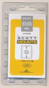 Prinz Scott Stamp Mounts Size 57/55 CLEAR Background Pack of 25