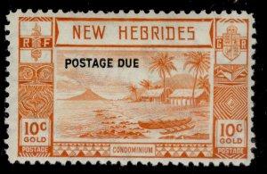 NEW HEBRIDES GVI SG D7, 10c orange, M MINT. Cat £35.