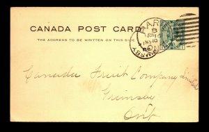 Canada 1910 Paris ONT Duplex Cancel to Grimsby ONT - L27880