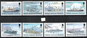 British Antarctic Territory 1993 Ship Definitives MNH CV £70.25 (2 scans)