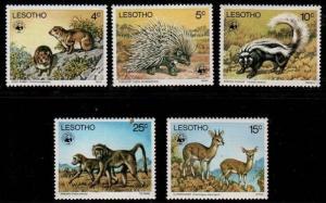 Lesotho Scott 228-232 Mint NH (Catalog Value $68.75)