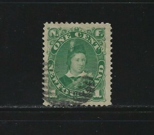 NEWFOUNDLAND - #45 - 1c PRINCE OF WALES USED STAMP