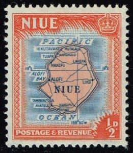 Niue #94 Map of Niue; Unused (0.25) (2Stars)