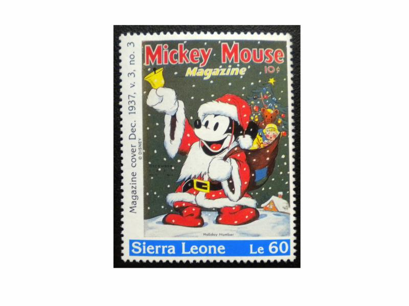 SIERRA LEONE MICKEY MOUSE STAMP 1992 SCOTT 1573 MINT HipStamp