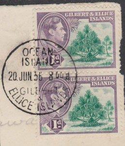 GILBERT & ELLICE IS GVI on 1956 piece OCEAN ISLAND cds......................N470