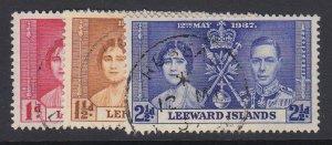 LEEWARD ISLANDS, Scott 100-102, used