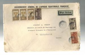 1934 Brazzaville AOF Middle Congo Big Cover to Douba Scarce Franking GG