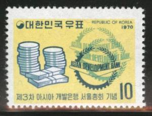 Korea Scott 703 MNH** Money and Banking stamp CV$2