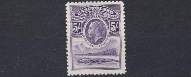 BASUTOLAND  1933  5/- VIOLET  MH  CAT £80  EVEN LIGHT TONING