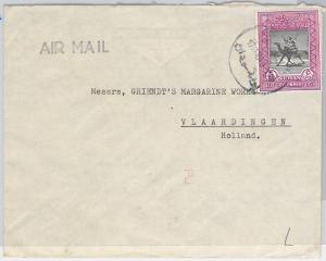 SDAN KHARTOUM  السودان‎ -  POSTAL HISTORY - COVER to NETHERLANDS 1954 : CAMEL