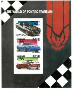 Maldives MNH S/S Pontiac Trans Am Sports Cars