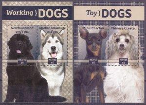 Nevis. 2014. Dogs. MNH.