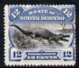 North Borneo 1894 Crocodile 12c mounted mint, SG75