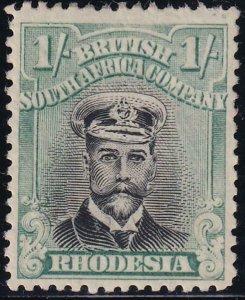 Rhodesia 1913-1923 SC 130a Mint Light Green and Blk