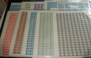 MALACK 752 - 771 COMPLETE SET OF FARLY SHEETS, F/VF ..MORE.. w8433