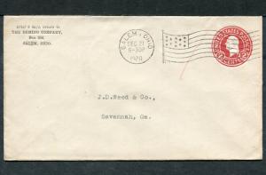 Postal History - Salem OH 1920 Black American Flag AMF-A14 Cancel PS B0667