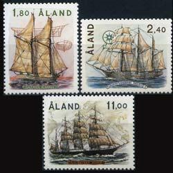 ALAND IS. 1988 - Scott# 31-3 Sailing Ships Set of 3 LH