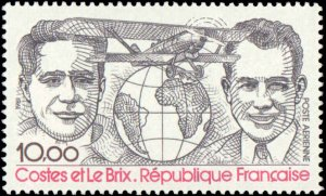 France #C54, Complete Set, 1980, Airplanes, Aviation Related, Never Hinged