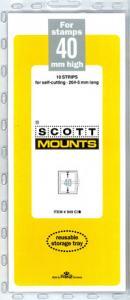 Scott Mounts Clear 40mm STRIP 265mm, (Pgk. 10) (00949C)