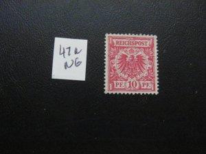 GERMANY 1889 NO GUM  MI.NR. 47a NUMERAL