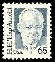 PCBstamps    US #2191 65c Gen. HapH. Arnold, 1988, MNH, (5)