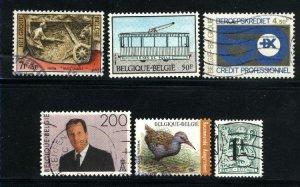 Belgium #1034,1137,1535,B857,+2   Used   PD